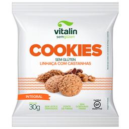 Cookie Integral com Linhaça Dourada e Castanhas Vitalin 30g