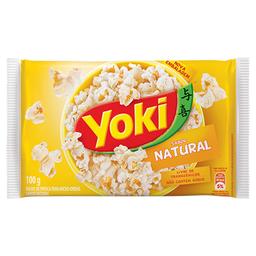 Milho de Pipoca Para Micro-Ondas Natural Popcorn Yoki 100g