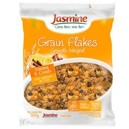 Granola Integral Banana e Canela Grain Flakes Jasmine 300g