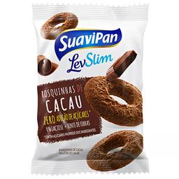 Biscoito Rosquinha sem Açúcar Sabor Chocolate Suavipan 35g