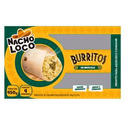 Burrito Brócolis com Ricota Nacho Loco 450g com 4 unidades