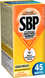 Refil para Repelente Elétrico Citronela 45 Noites SBP 35ml