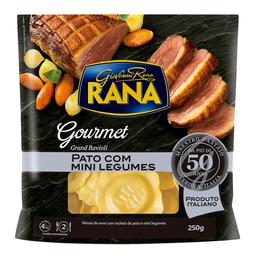 Massa com Recheio de Pato e Mini Legumes Rana Gourmet 250g