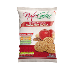 Cookie de Maçã sem Glúten e sem Lactose Nutricookie 120g