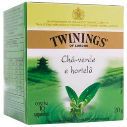 Chá Inglês Verde de Hortelã Twinings 20g com 10 unidades