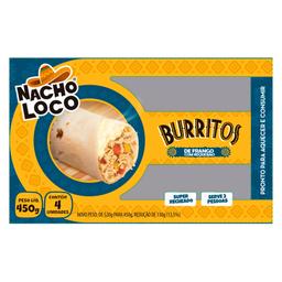 Burrito Frango com Queijo Nacho Loco 450g com 4 unidades