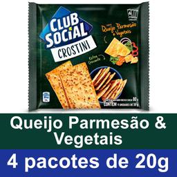 Biscoito Salgado Sabor Queijo e Vegetais Crostini - 80g