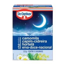 Chá Misto Doces Sonhos Dr. Oetker 22,5g com 15 unidades