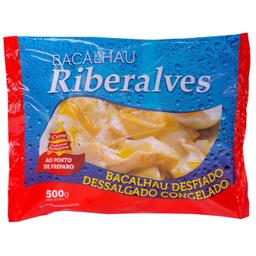 Lascas de Bacalhau Dessalgado Congelado Riberalves 500g