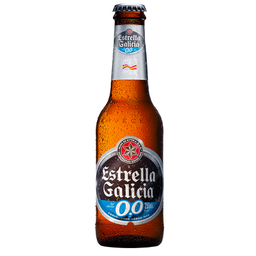 Cerveja Espanhola Estrella Galicia Zero Long Neck 250ml