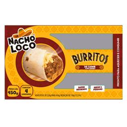 Burrito Carne com Queijo Nacho Loco 450g com 4 unidades