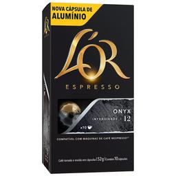 Café Espresso Onyx L'or 52g com 10 Cápsulas de Alumínio