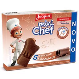 Bolo de Chocolate Mini Chef Jacquet 150g com 5 unidades