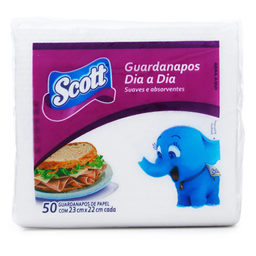 Guardanapo Scott Dia a Dia Coquetel Regular 50 Und