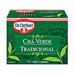 Chá Verde Tradicional Dr. Oetker 25,5g com 15 unidades