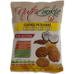 Cookie de Coco sem Glúten e sem Lactose Nutricook 120g