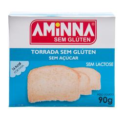 Torrada Sem Açúcar Sem Glúten e Sem Lactose Aminna 90g