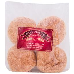 Pão para Hambúrguer com Gergelim Casa Victoriana 200g