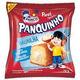 Mini Bolo Sabor Baunilha Panquinho 70g com 2 unidades