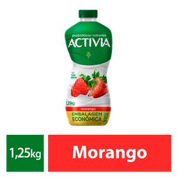 Iogurte Probióticos Activia Líquido Morango 1250g