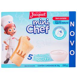 Bolo de Iorgute Mini Chef Jacquet 150g com 5 unidades