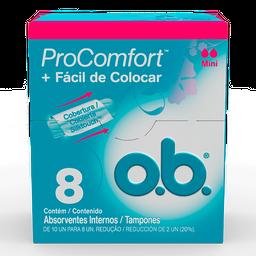 Absorvente Interno ProComfort O.B Mini com 8 unidades