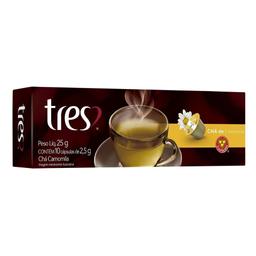 Chá de Camomila Tres 3 Corações 2,5g com 10 Cápsulas