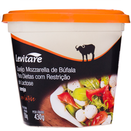 Mussarela de Búfala sem Lactose Cereja Levitare 150g