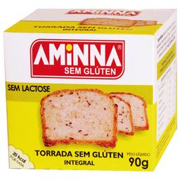 Torrada Integral sem Glúten e sem Lactose Aminna 90g