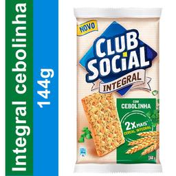 Biscoito Salgado Integral Cebolinha Club Social 144g