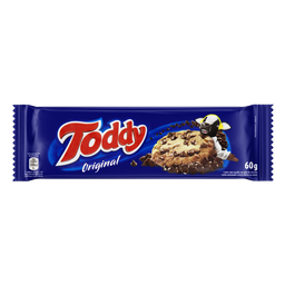 Biscoito Cookie Baunilha com Gotas de Chocolate Toddy Pacote 60g