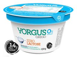 Iogurte Grego 0% de Gordura sem Lactose Yorgus 130g