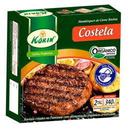 Hambúrguer de Costela Orgânico Congelado Korin 340g