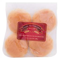 Pão para Hambúrguer de Brioche Casa Victoriana 200g