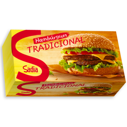 Hambúrguer Bovino Congelado Tradicional Sadia 672g