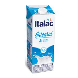 Leite Longa Vida Integral com tampa Italac 1 Litro