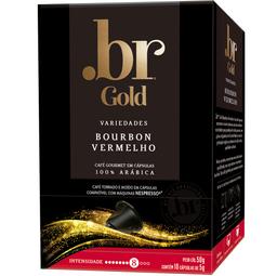 Café Bourbon Vermelho .Br Gold 50g com 10 Cápsulas