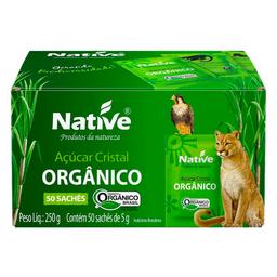 Açúcar Cristal Orgânico Native 250g com 50 Sachês