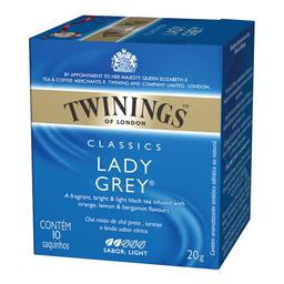 Chá Inglês Lady Grey Twinings 20g com 10 unidades