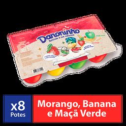 Iogurte Infantil Danoninho Petit Suisse Morango Banana Maçã 320G
