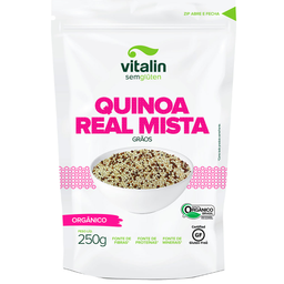 Quinoa Real Orgânica em Grãos Mista Vitalin 250g