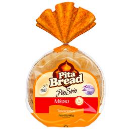 Pão Sírio Médio Pita Bread 640g com 12 unidades