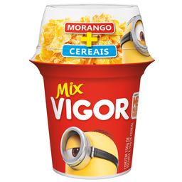 Iogurte de Morango com Sucrilhos Mix Vigor 165g