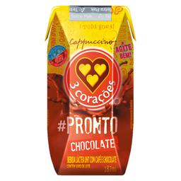 Cappuccino Pronto de Chocolate 3 Corações 185ml