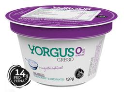 Iogurte Grego Natural 0% de Gordura Yorgus 130g