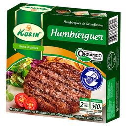 Hambúrguer Bovino Orgânico Congelado Korin 340g