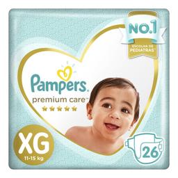 Fraldas Pampers Premium Care XG com 26 unidades