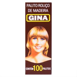 Palito Roliço de Madeira Gina com 100 unidades
