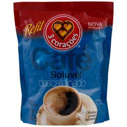 Café Descafeinado Solúvel 3 Corações Refil 50g