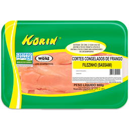 Sassami de Frango Natural Congelado Korin 600g
